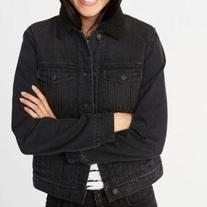 Black Denim fusy lining jacket